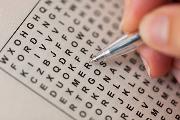 wordsearch puzzle - single word stock photos and pictures