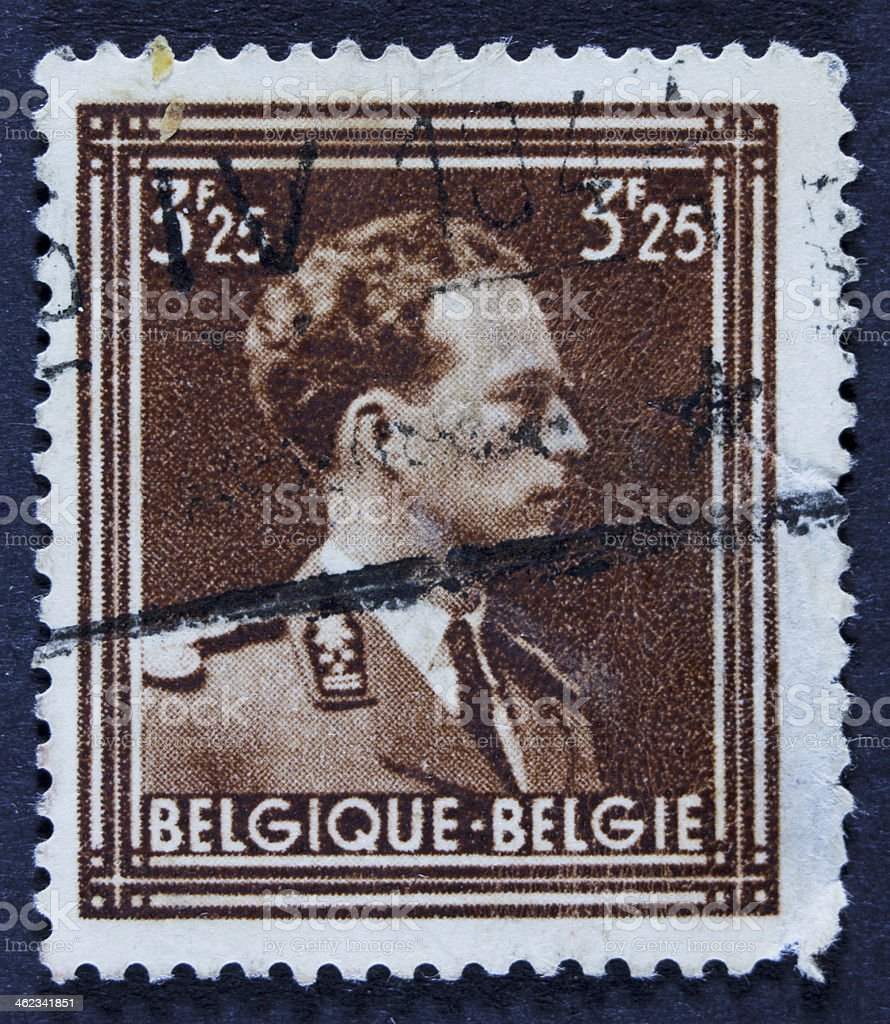 Portait on a stamp royalty-free stock photo