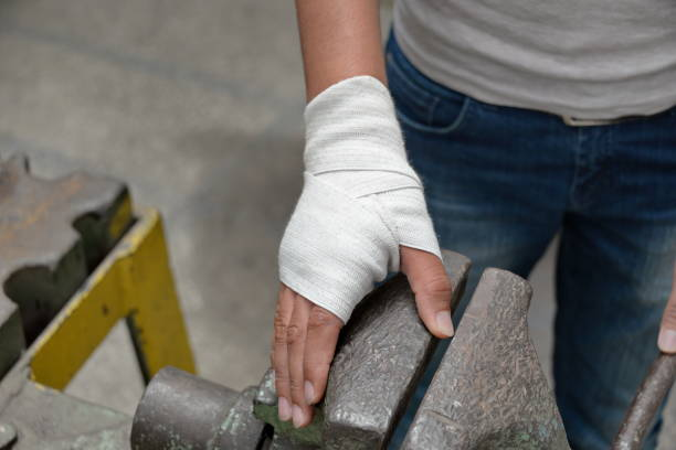 Work accident and injury stock photo
