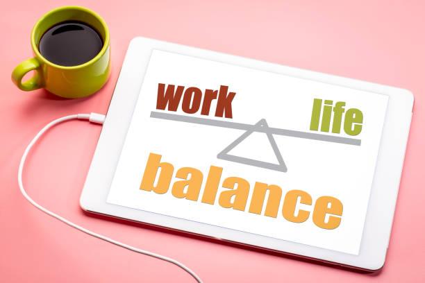 work and life balance concept stock photo