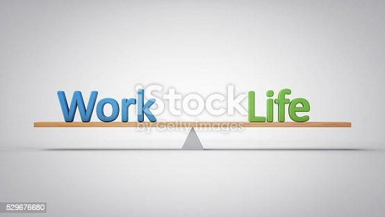 istock Work and Life Balance - (3D Illustration) 529676680