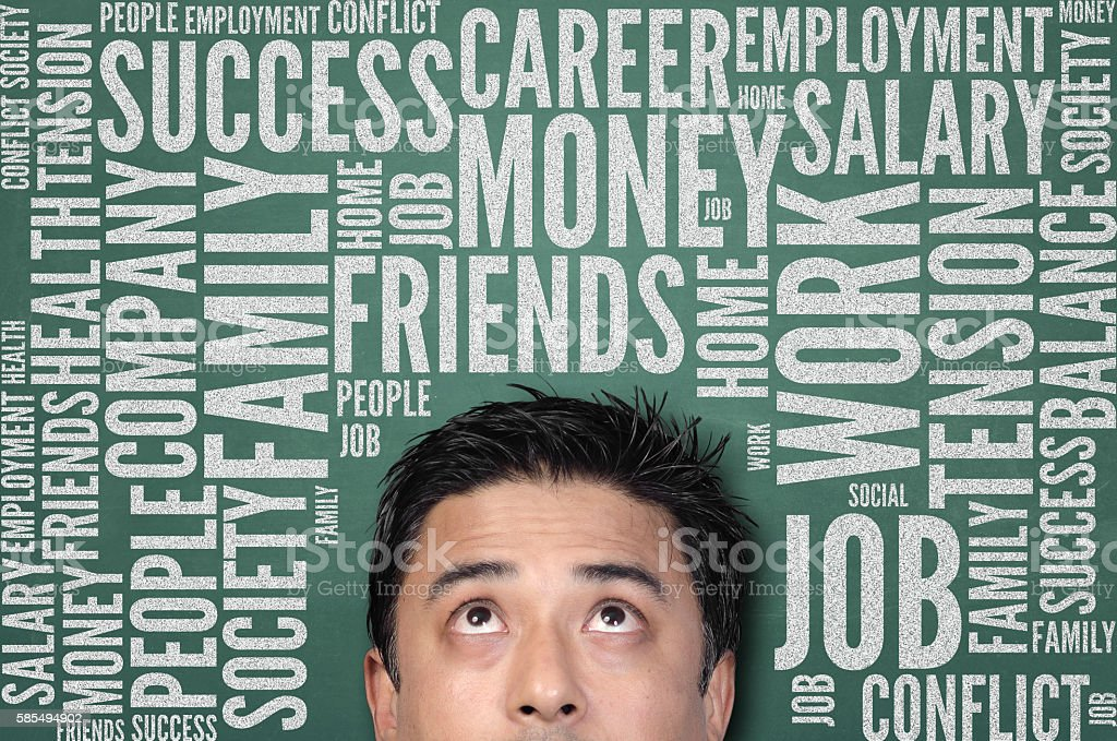 Work and life balance stock photo