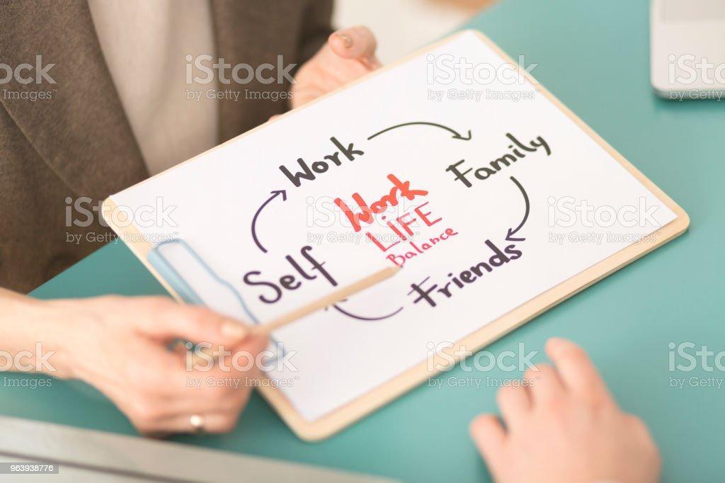 Work and life balance scheme - Royalty-free Adult Stock Photo