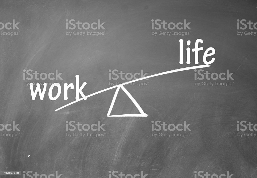 work and life choice stock photo