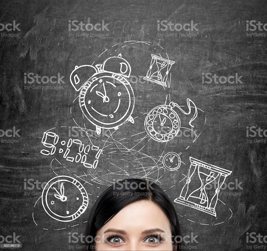 Work and timing stock photo
