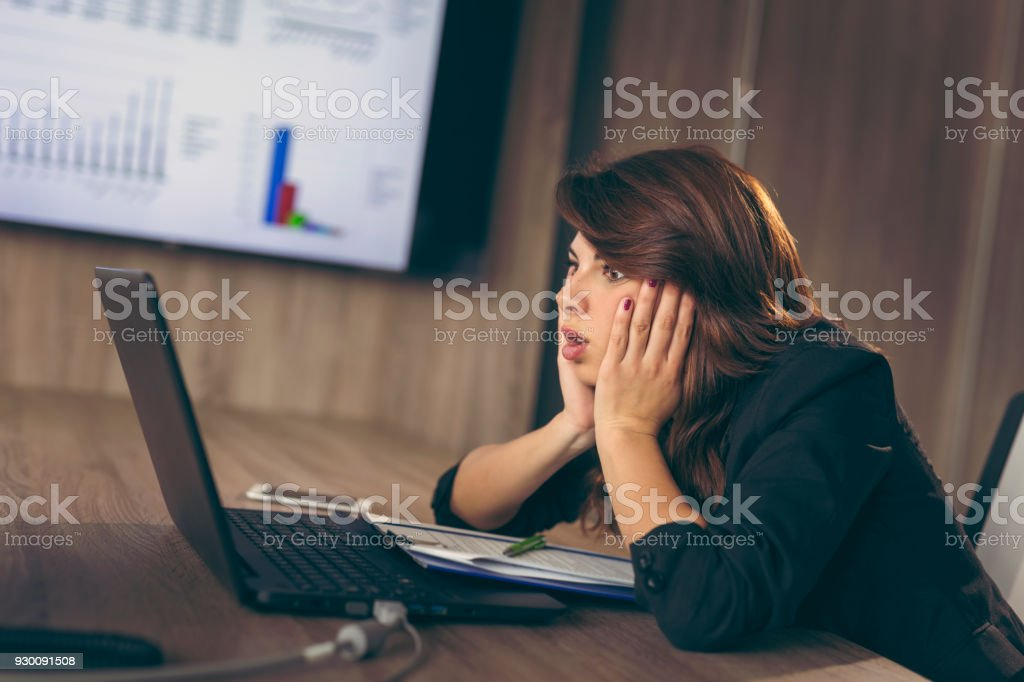 Work anxiety stock photo