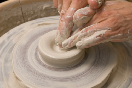 Work at potters wheel