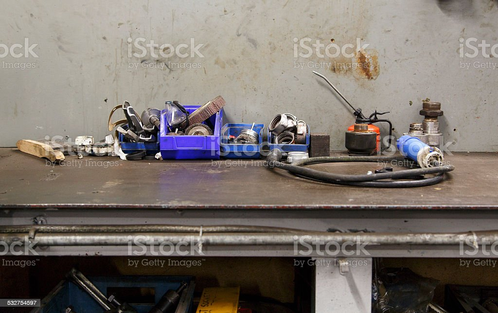 Work Bench stock photo