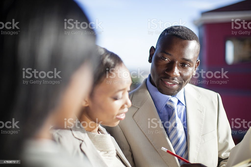Work Colleagues at a Business Meeting, Africa royalty-free stock photo
