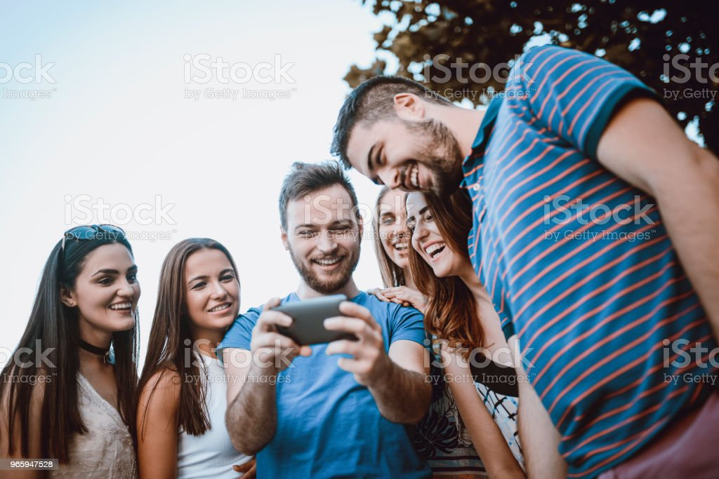 Work Colleagues On Teambuilding Activities Making Funny Video Conference - Royalty-free Beautiful People Stock Photo