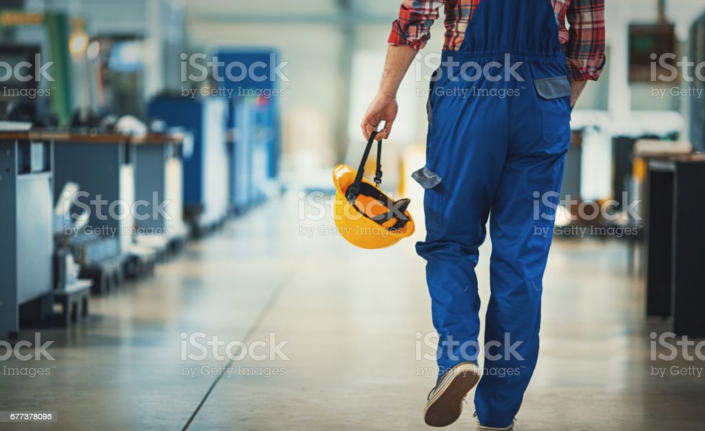 Work day at a plant. stock photo