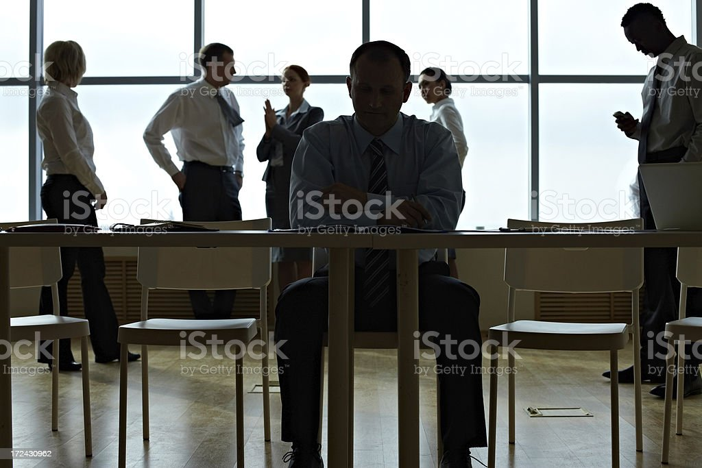 Work day at office stock photo