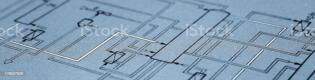 Work flow diagram stock photo