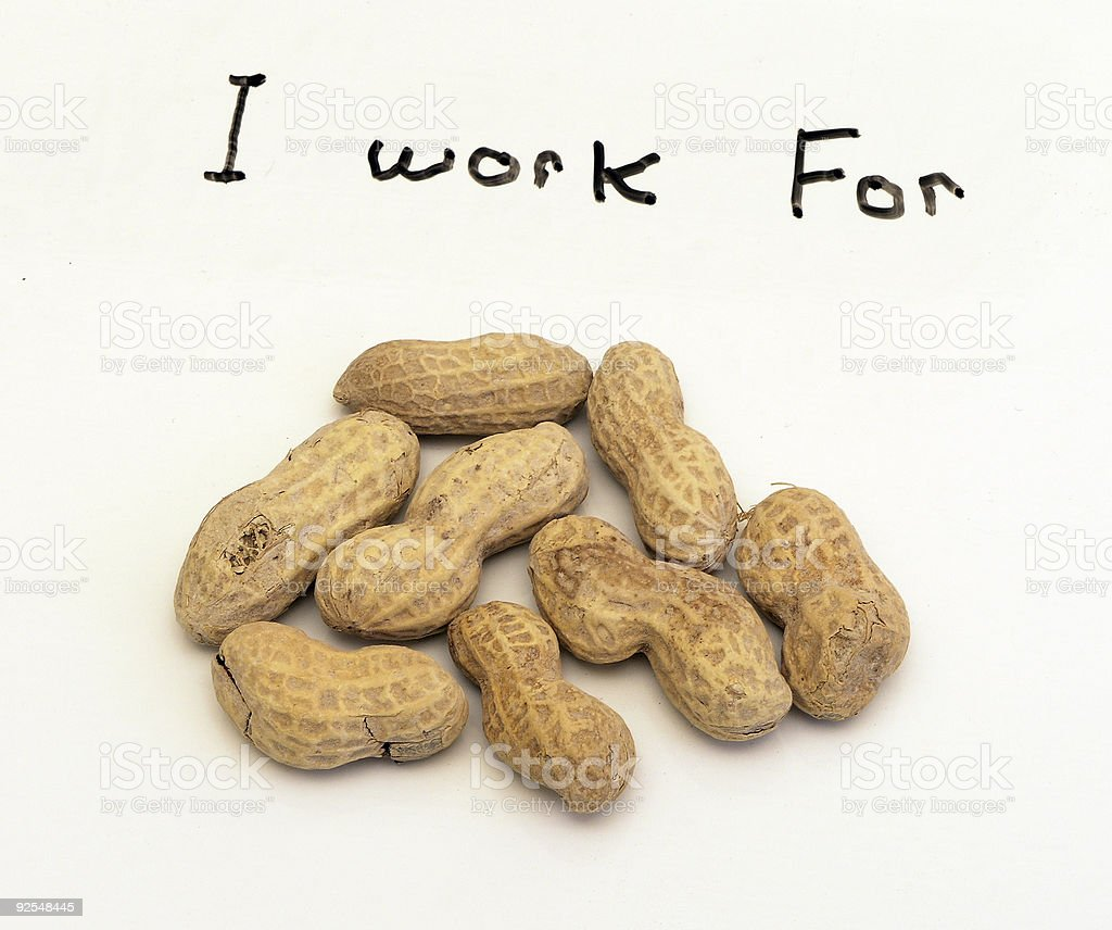 I work for peanuts royalty-free stock photo