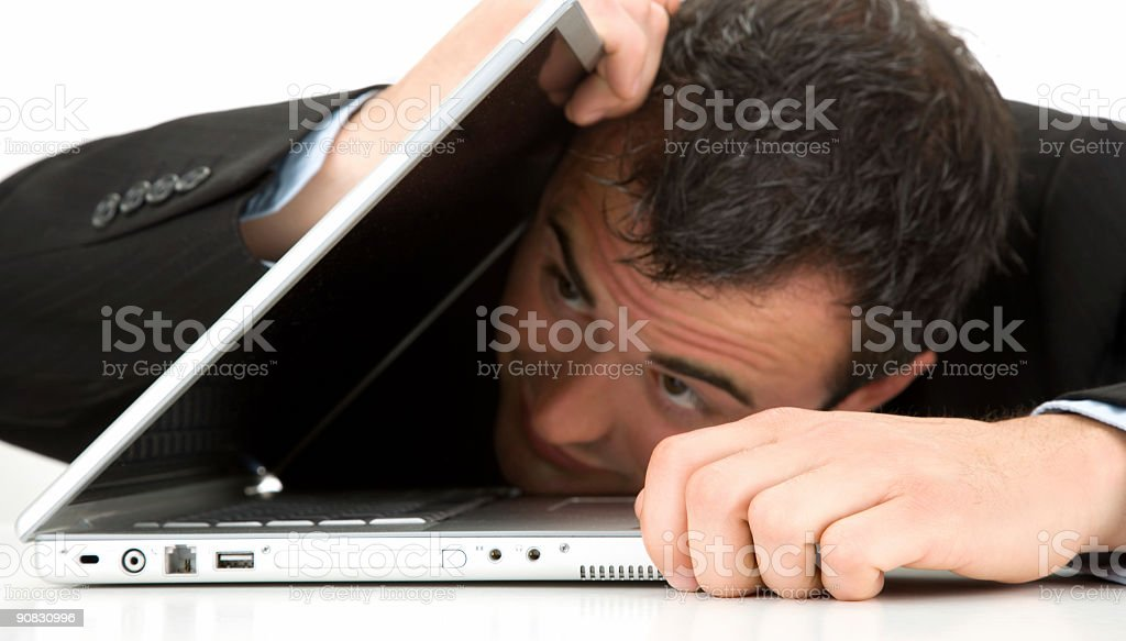 Work Frustrations stock photo
