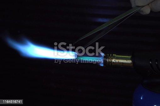 Work gas burner from a cylinder. Work gas burner from a cylinder.