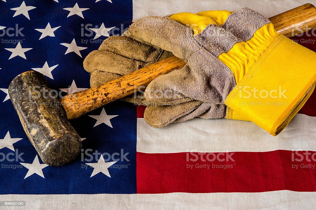 Work Gloves stock photo