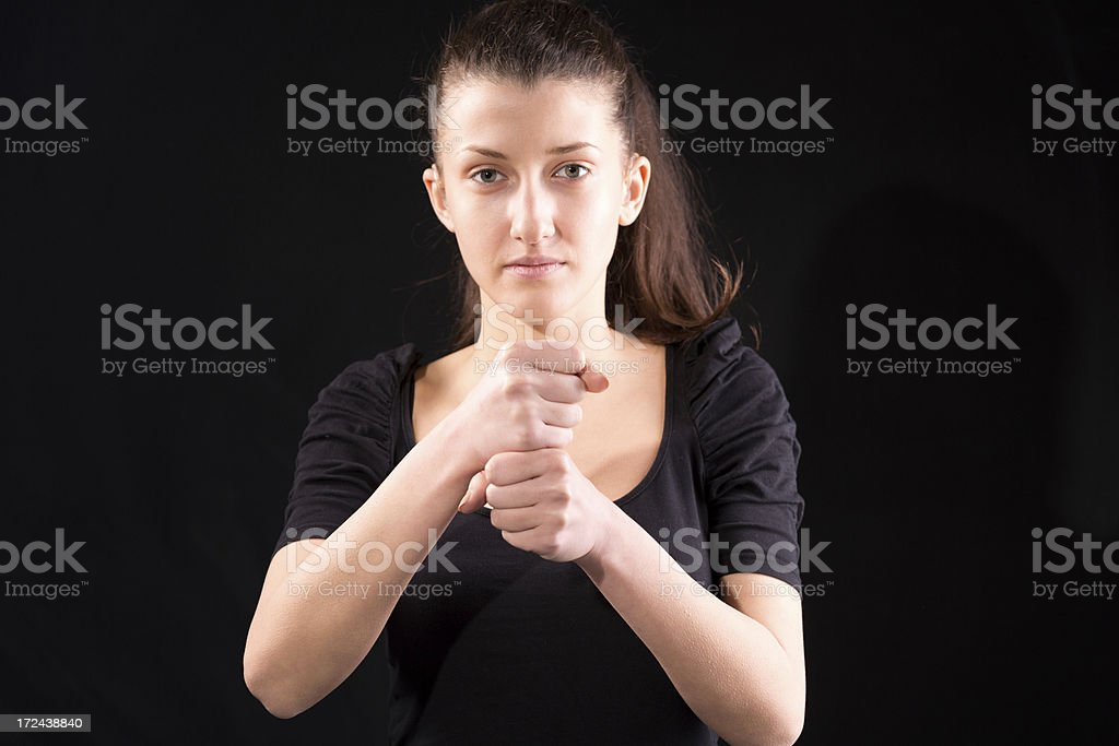 Work hand sign royalty-free stock photo