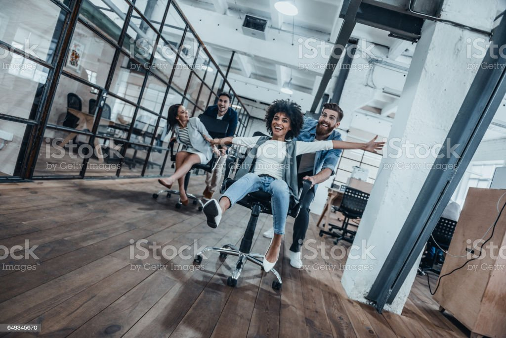 Work hard play hard! stock photo