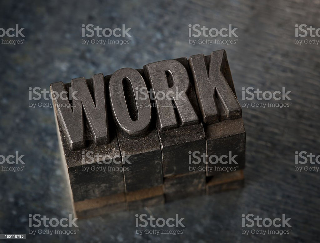 Work In Letterpress Type royalty-free stock photo