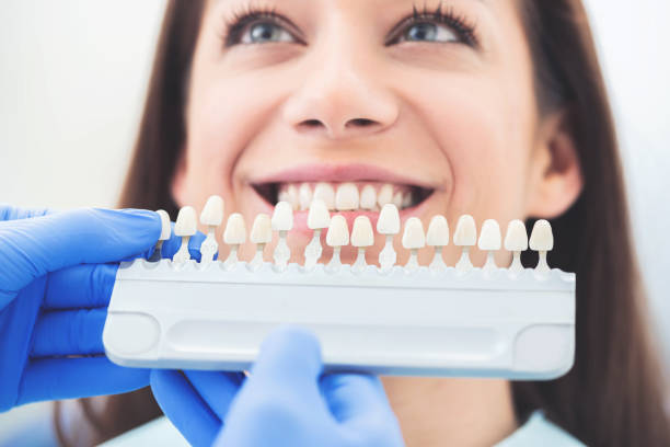 Work in modern dental office stock photo