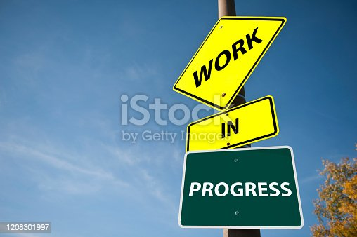 Work in Progress Traffic Sign (Click for more)