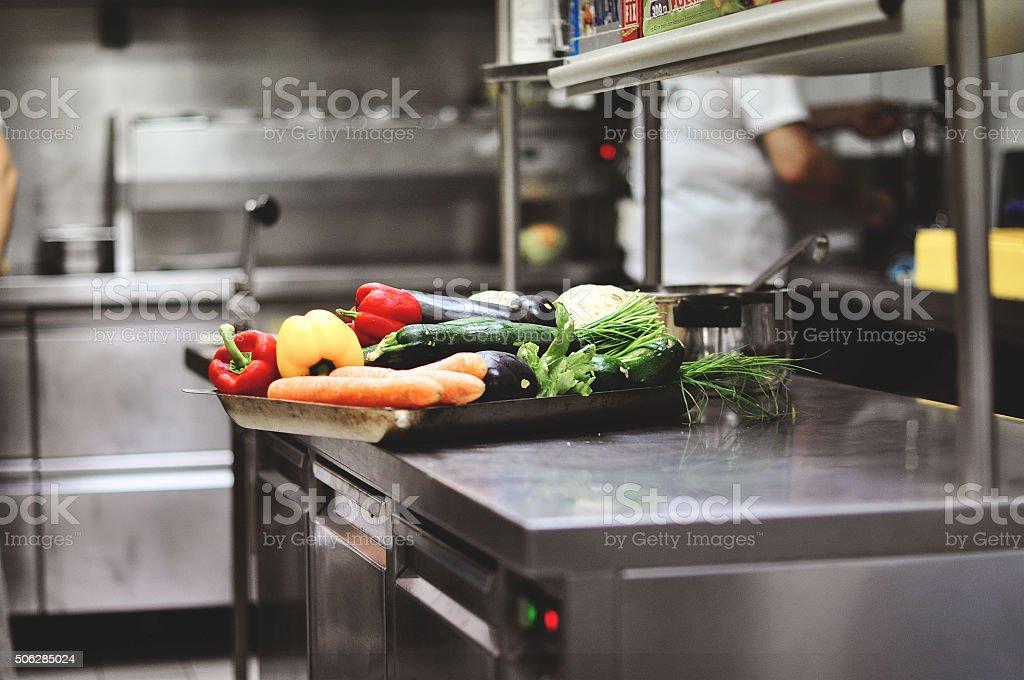 Arbeit in der Küche, vegetable barley soup und formula one grand prix - Lizenzfrei Erwachsene Person Stock-Foto