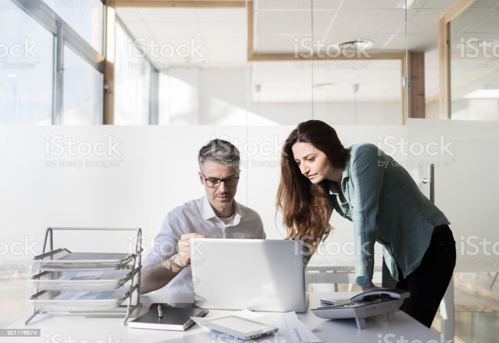 Work in the office stock photo