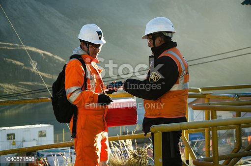 istock Work in the open pit mine in Cerro de Pasco 1040571598
