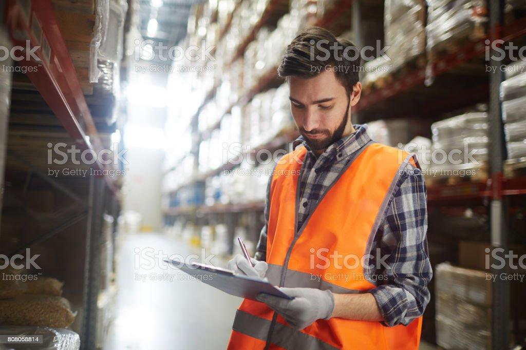 Work in warehouse стоковое фото