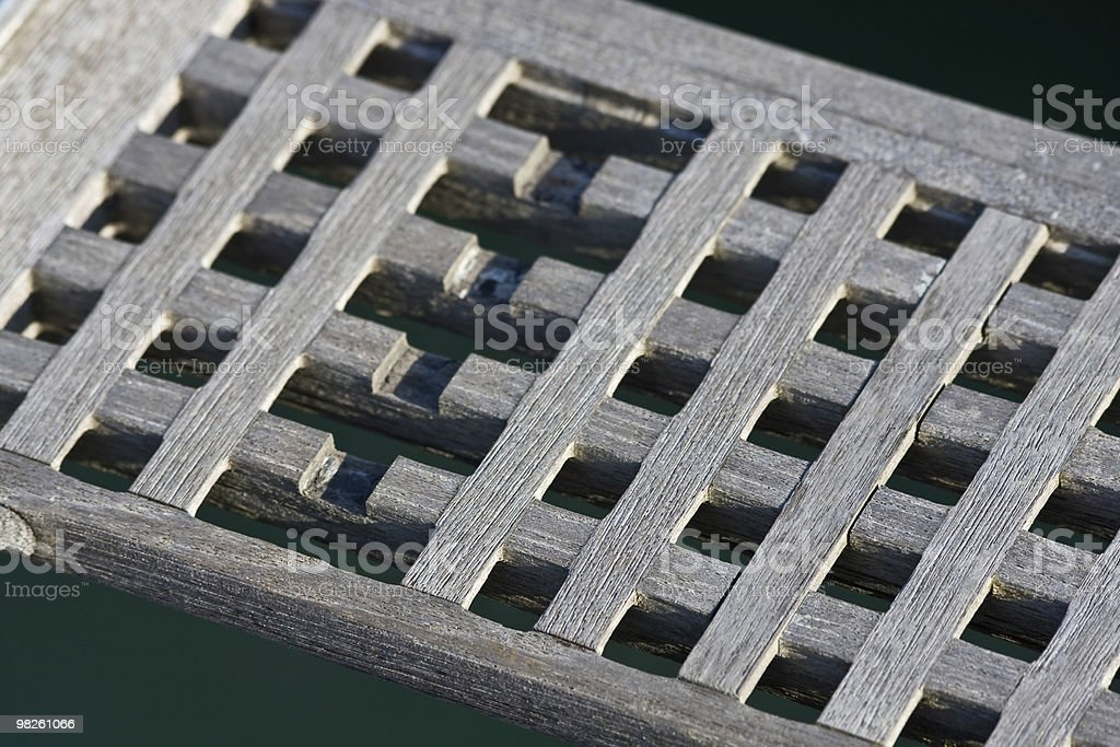 Work In Wood - Boat Ladder royalty-free stock photo