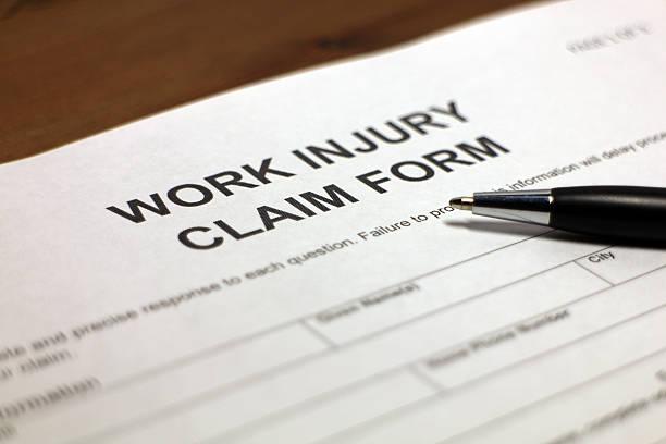 lesões formulário de reivindicação de trabalho - cheio - fotografias e filmes do acervo