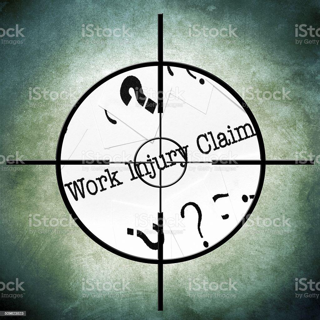 Work injury claim stock photo
