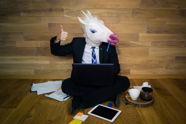 el trabajo está hecho. - unicornio fotografías e imágenes de stock