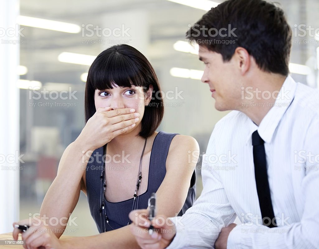 Work is play whenever he's around royalty-free stock photo