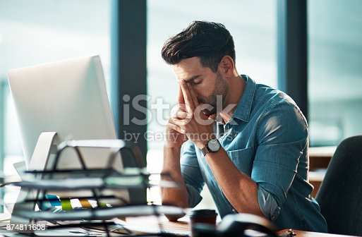 istock Work is testing his patience 874811608