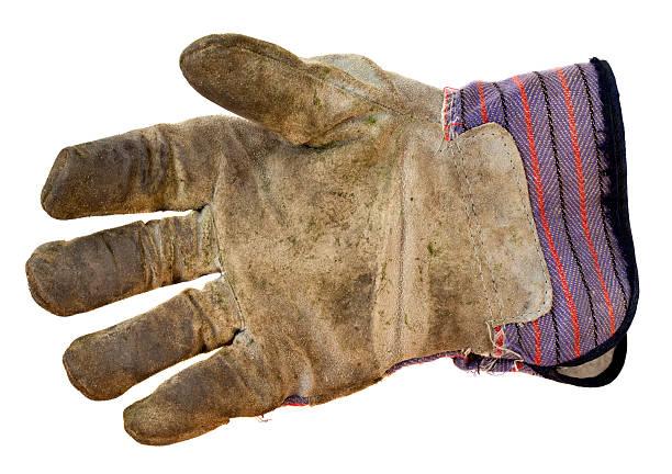 der arbeit lederhandschuhe - arbeitshandschuhe stock-fotos und bilder