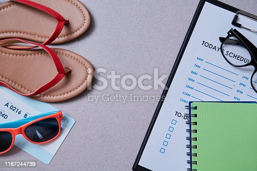 1175869940istockphoto Work life balance choice concept. Accessories for leisure and work 1167244739