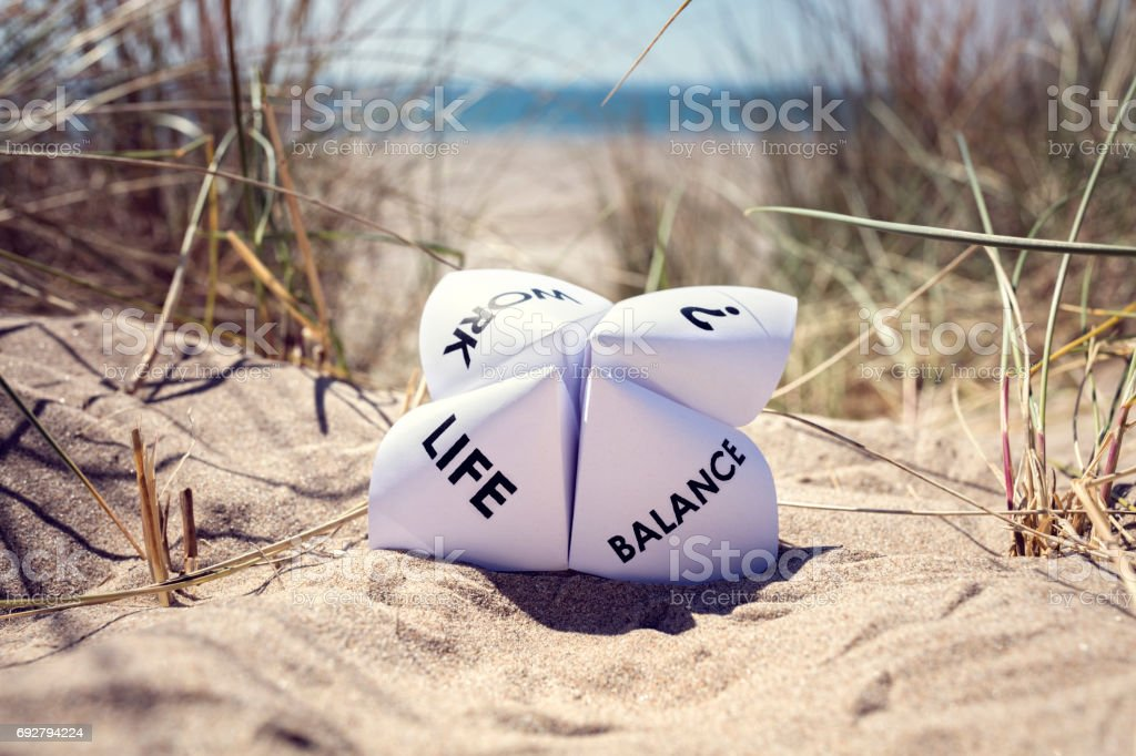 Work life balance choices royalty-free stock photo