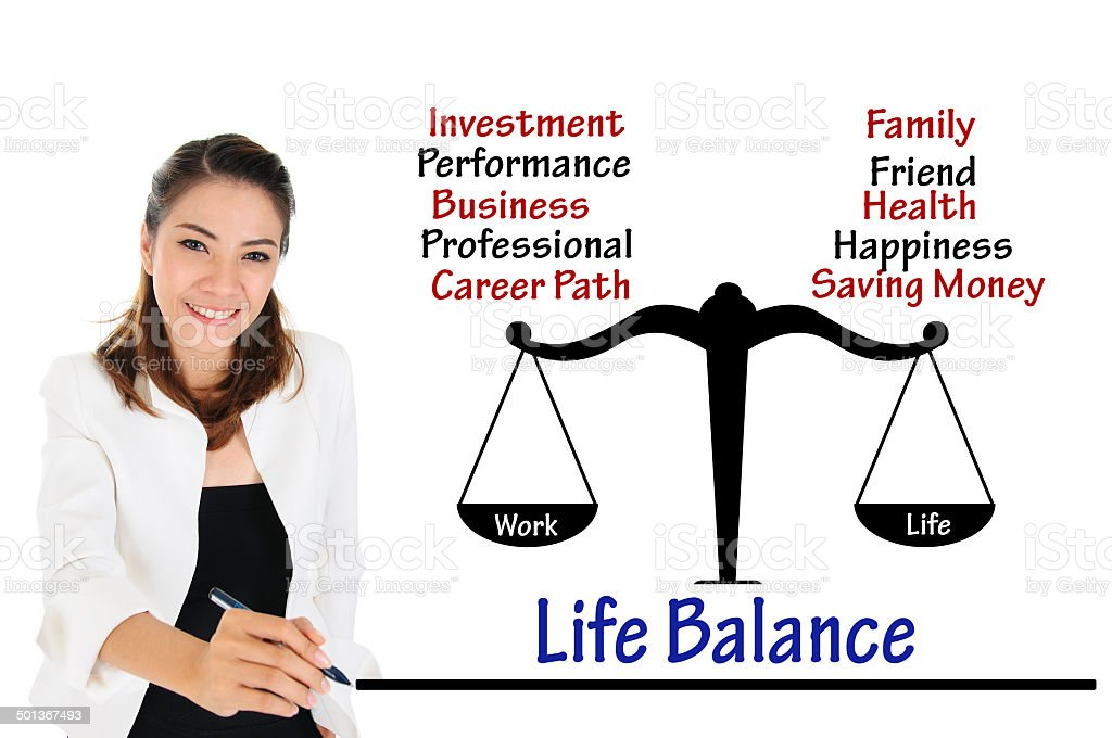 Work life balance of business concept stock photo