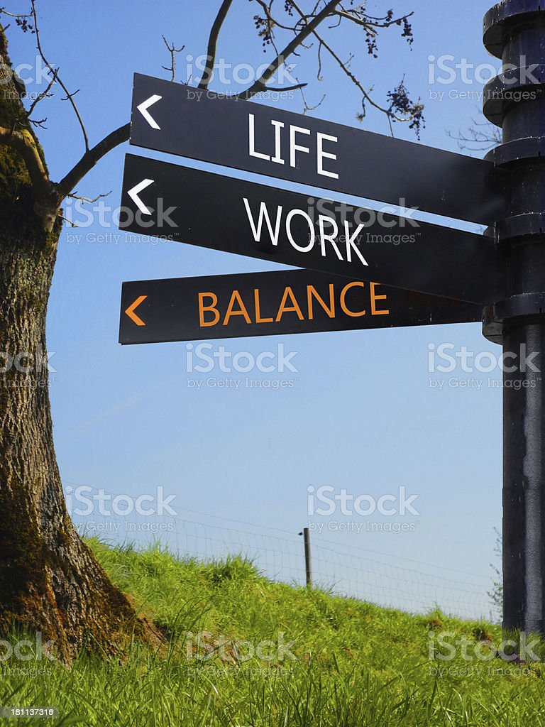 work life balance royalty-free stock photo