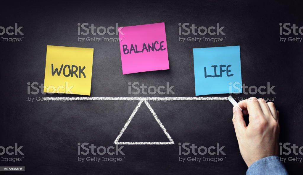 Equilíbrio vida-trabalho foto de stock royalty-free