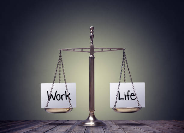 work life balance scales - balance stock pictures, royalty-free photos & images