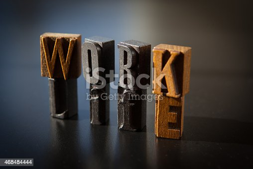 171274866 istock photo Work life balance spelled out in vintage letterpress letters 468484444