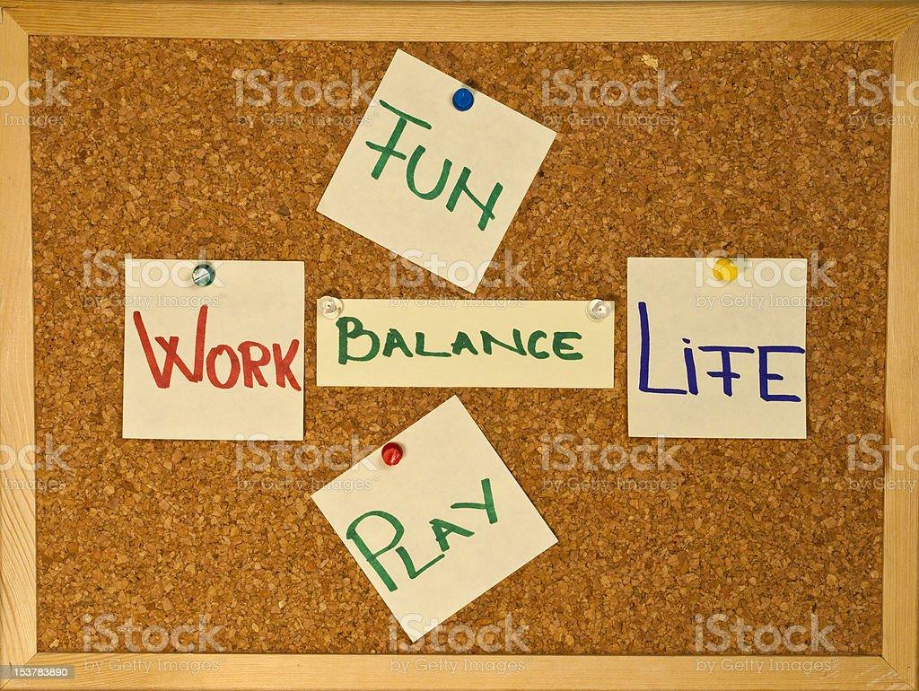 Work Life Balance with fun an play royalty-free stock photo