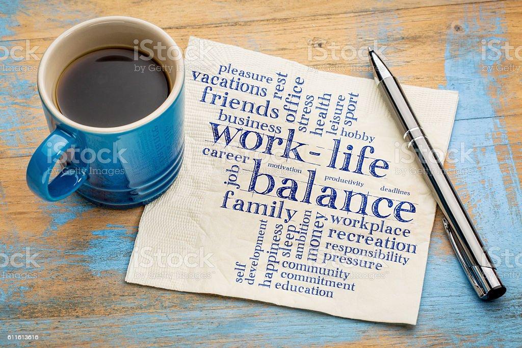 work life balance word cloud royalty-free stock photo