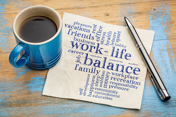 work life balance word cloud - balance stock pictures, royalty-free photos & images