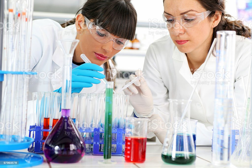 Work of scientists in the laboratory royalty-free stock photo