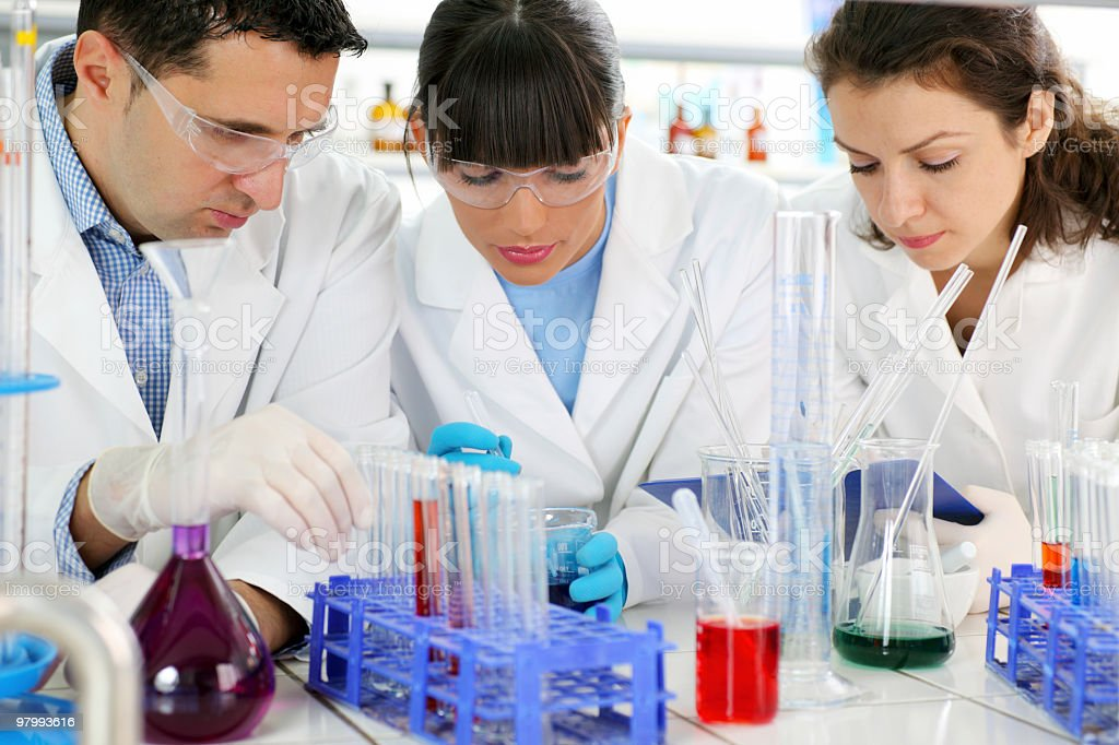 Work of scientists in the laboratory. royalty-free stock photo