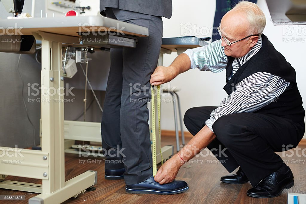 Work of tailor stock photo